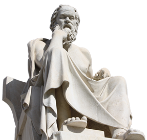 Greek Philosopher Socrates thinking